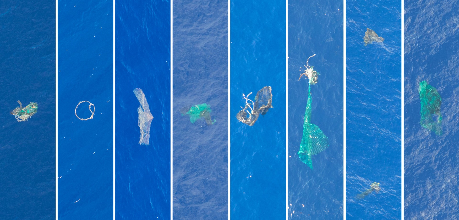 Rubbish in the Great Garbage Patch during Aerial Expedition Large